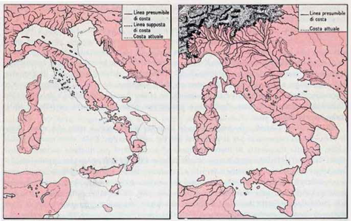 Italy during the Pliocene and the greater glacial expansion