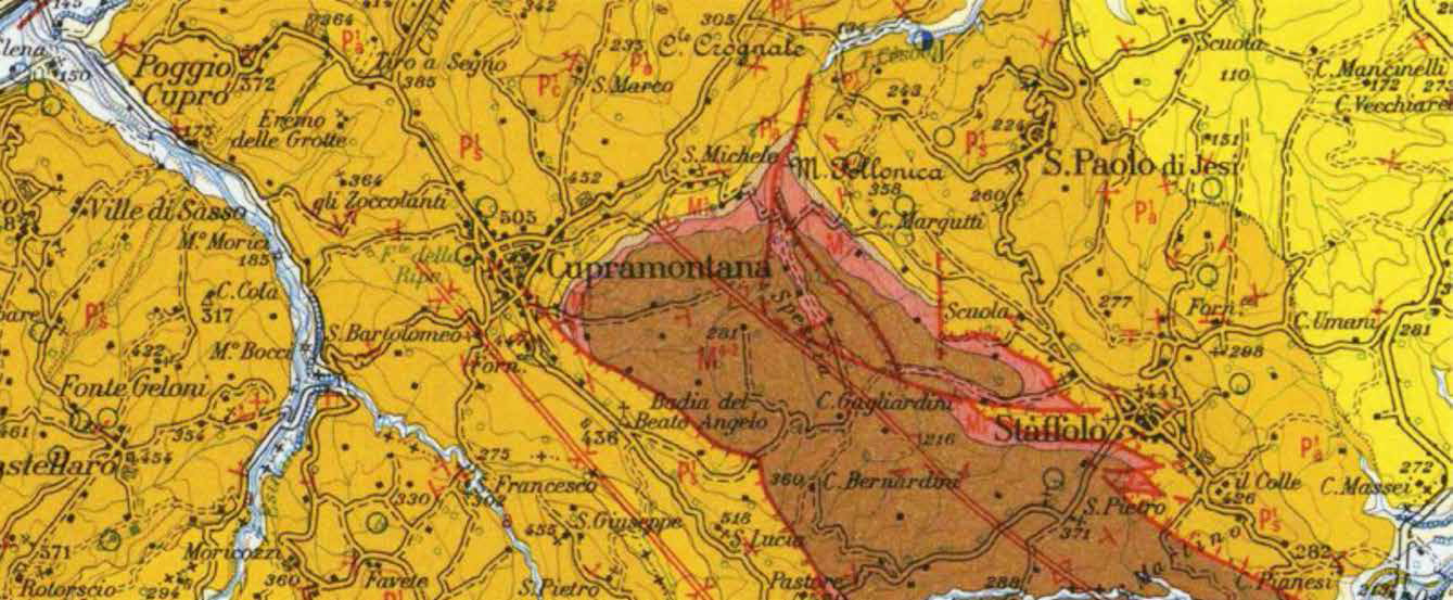 Excerpt Geological Map of Italy 1:100.000